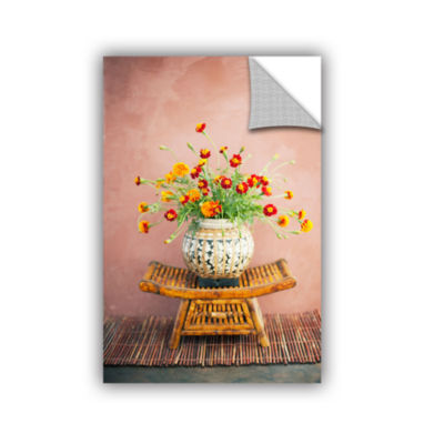 Brushstone Asian Floral Removable Wall Decal