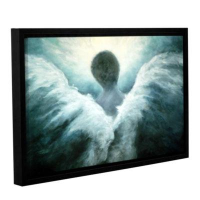 Brushstone Ascending Angel Gallery Wrapped Floater-Framed Canvas Wall Art