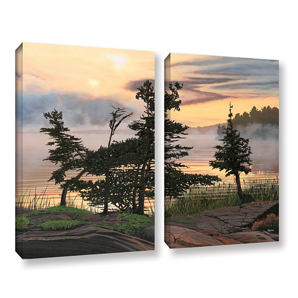Brushstone Auburn Evening 2-pc. Gallery Wrapped Canvas Wall Art