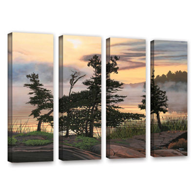Brushstone Auburn Evening 4-pc. Gallery Wrapped Canvas Wall Art