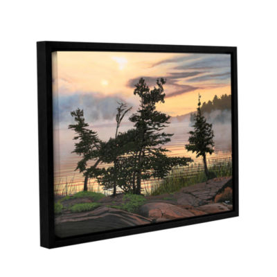 Brushstone Auburn Evening Gallery Wrapped Framed Canvas Wall Art
