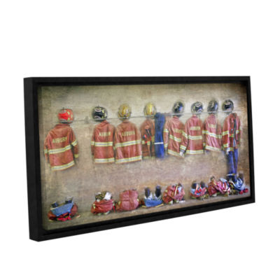 Brushstone Auburn Fire Department Gallery WrappedFramed Canvas Wall Art