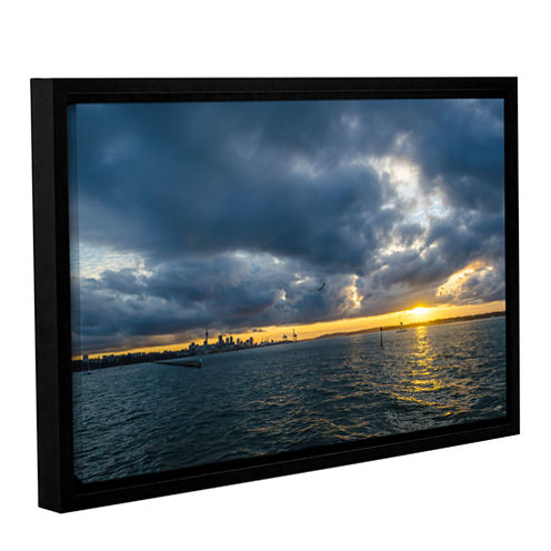 Brushstone Auckland5 Gallery Wrapped Floater-Framed Canvas Wall Art