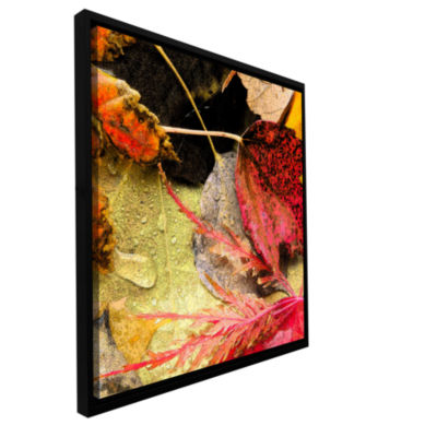 Brushstone autumn array Gallery Wrapped Floater-Framed Canvas Wall Art