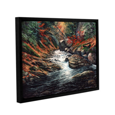 Brushstone Autumn Brook Gallery Wrapped Floater-Framed Canvas Wall Art