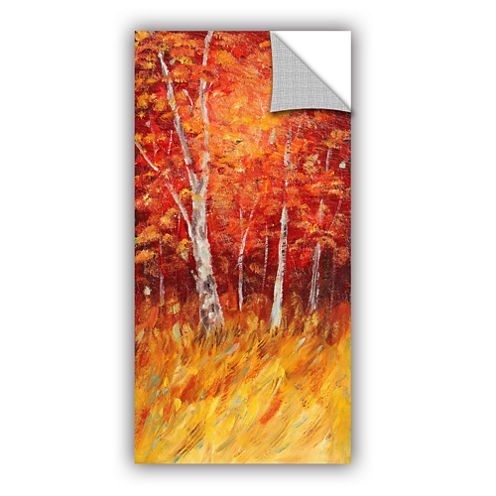 Brushstone Autumn Birches Removable Wall Decal