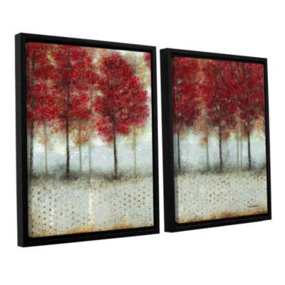Brushstone Autumn Blaze 2-pc. Framed Canvas Wall Art