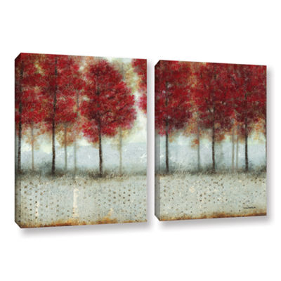 Brushstone Autumn Blaze 2-pc. Gallery Wrapped Canvas Wall Art