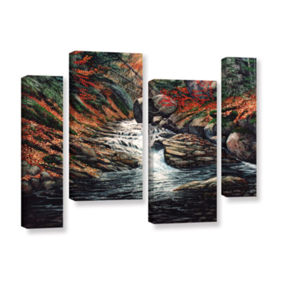 Brushstone Autumn Brook 4-pc. Gallery Wrapped Staggered Canvas Wall Art