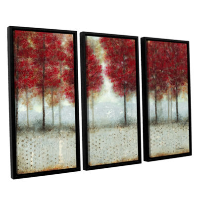 Brushstone Autumn Blaze 3-pc. Floater Framed Canvas Wall Art