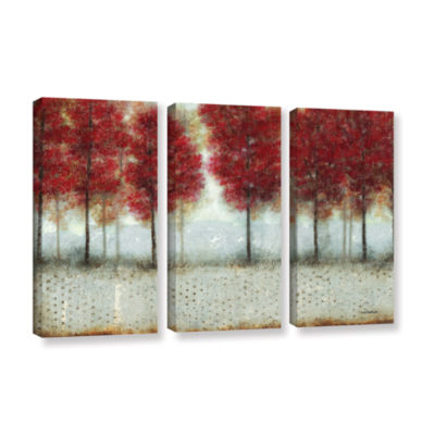 Brushstone Autumn Blaze 3-pc. Gallery Wrapped Canvas Wall Art