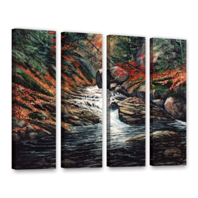 Brushstone Autumn Brook 4-pc. Gallery Wrapped Canvas Wall Art