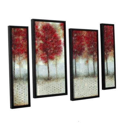Brushstone Autumn Blaze 4-pc. Framed Staggered Canvas Wall Art