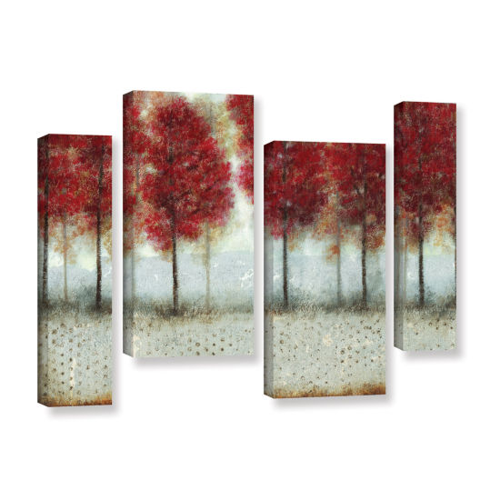 Brushstone Autumn Blaze 4-pc. Gallery Wrapped Staggered Canvas Wall Art