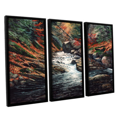 Brushstone Autumn Brook 3-pc. Framed Canvas Wall Art