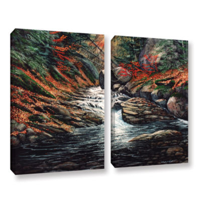 Brushstone Autumn Brook 2-pc. Gallery Wrapped Canvas Wall Art