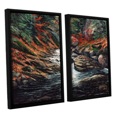 Brushstone Autumn Brook 2-pc. Floater Framed Canvas Wall Art