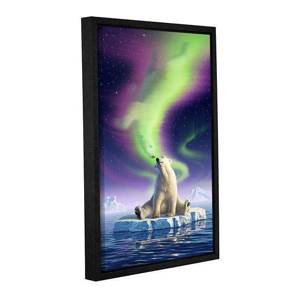 Brushstone Artic Kiss Gallery Wrapped Framed Canvas Wall Art