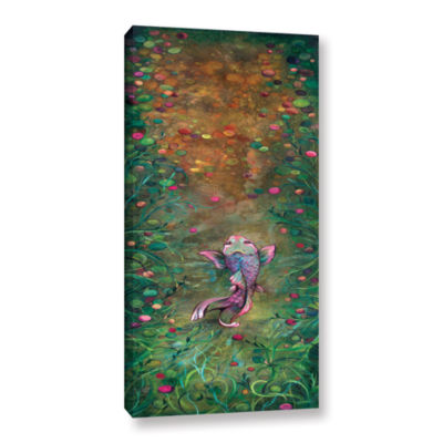 Brushstone Aspiration Of The Koi Gallery Wrapped Canvas Wall Art