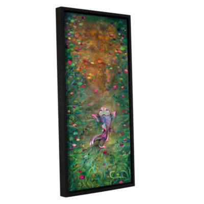 Brushstone Aspiration Of The Koi Gallery Wrapped Floater-Framed Canvas Wall Art