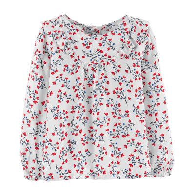 Oshkosh Long Sleeve Blouse - Toddler Girls