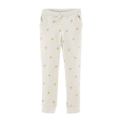 Oshkosh Girls Mid Rise Straight Pull-On Pants - Preschool