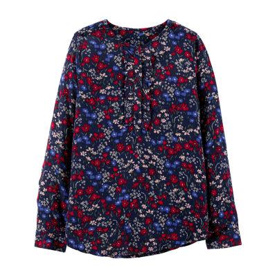 Oshkosh Mock Neck Long Sleeve Blouse - Preschool Girls