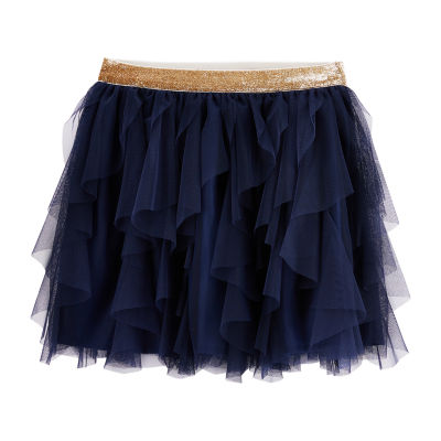 Oshkosh Girls Elastic Waist Midi Flared Skirt - Preschool