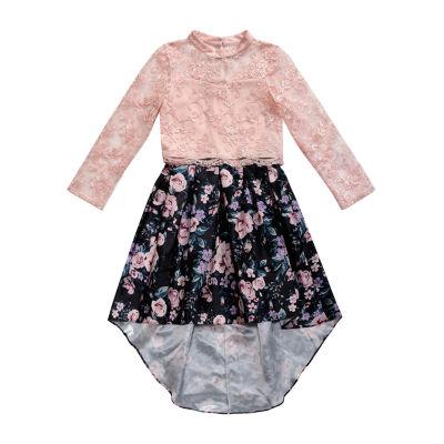 Emily West Long Sleeve Party Dress - Big Kid Girls