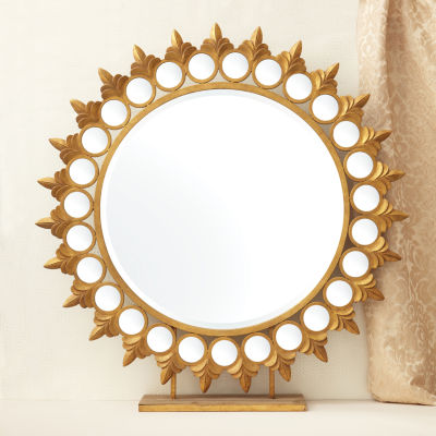 Two's Company Sun Mirror On Pedestal