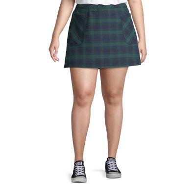 Arizona Womens Short Pencil Skirt-Juniors Plus
