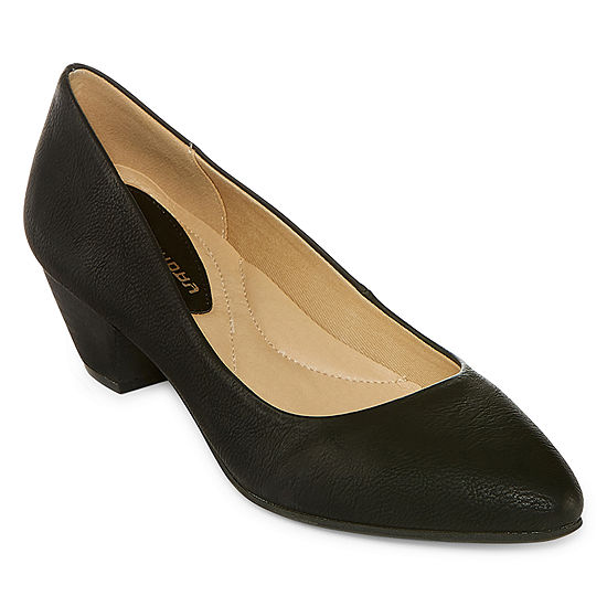 CL by Laundry Womens Adalia Round Toe Wedge Heel Pumps
