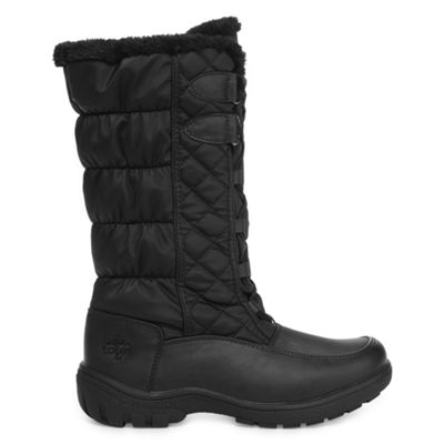 Totes Womens Tracey Winter Boots Insulated Lace-up