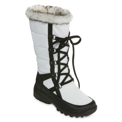Totes Womens Wren Waterproof Winter Boots Lace-up
