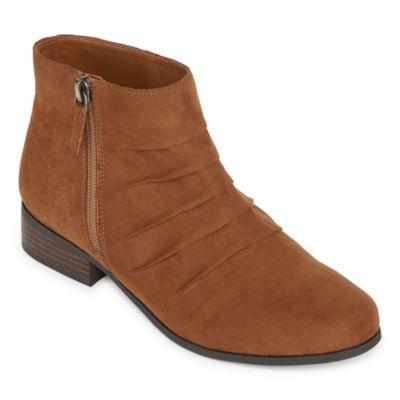 east 5th Womens Jackson Booties Block Heel Zip