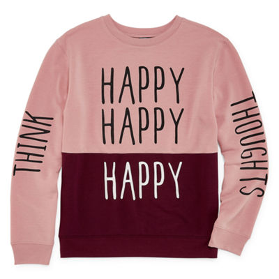 "Hybrid Tees ""Think Happy Thoughts"" Sweatshirt - Juniors"
