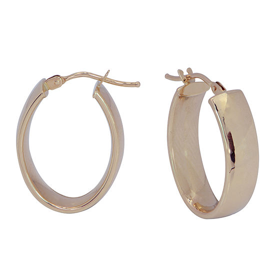 14K Gold 21mm Hoop Earrings