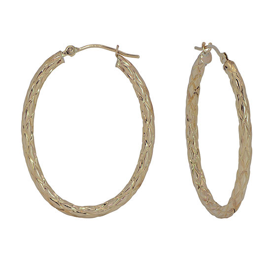 14k Gold 32mm Hoop Earrings
