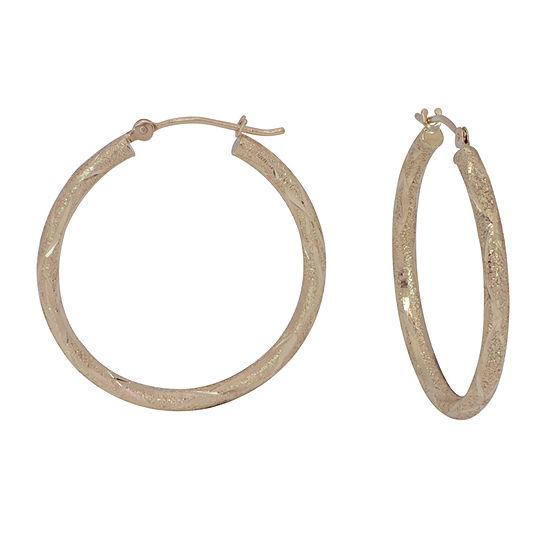 14K Gold 28mm Hoop Earrings