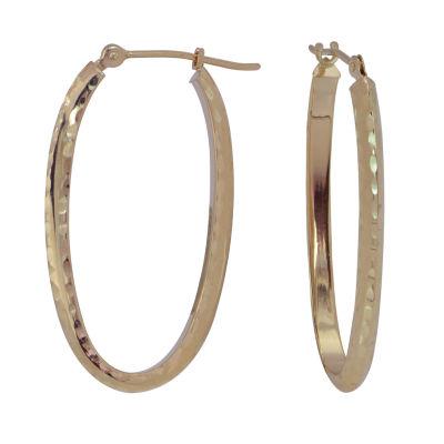 14K Gold 38mm Hoop Earrings