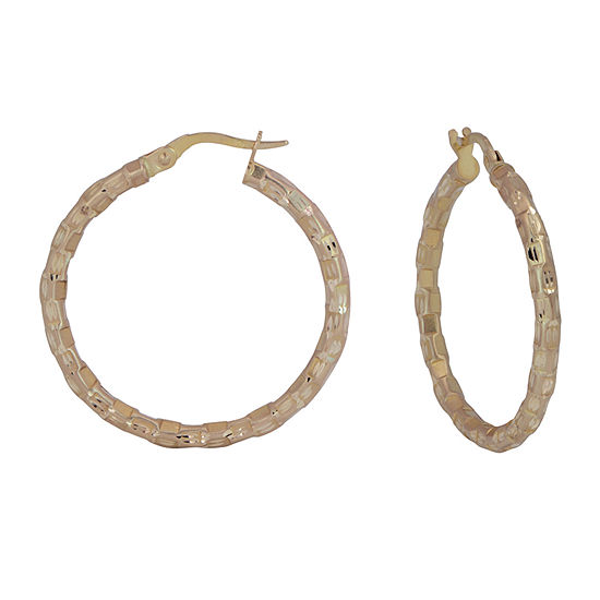 14K Gold 25mm Hoop Earrings