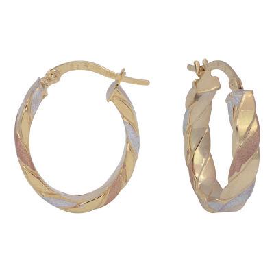14K Gold 19mm Hoop Earrings