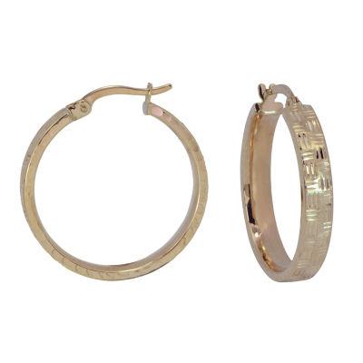 14K Gold 23mm Hoop Earrings