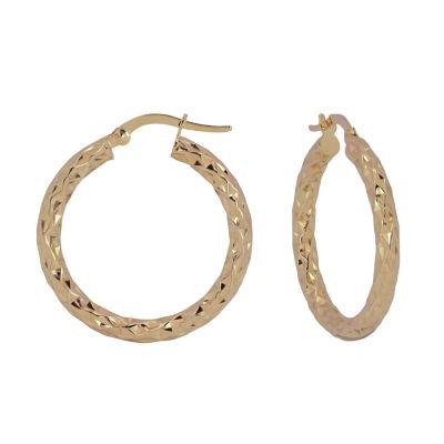 14K Gold 27mm Hoop Earrings