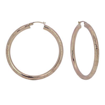 14K Gold 50mm Hoop Earrings
