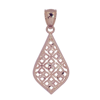 Womens 14K Rose Gold Pendant