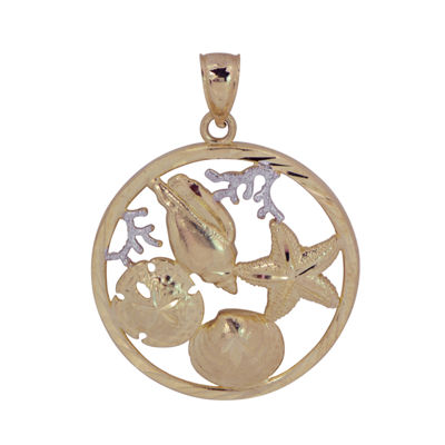 Womens 14K Two Tone Gold Pendant