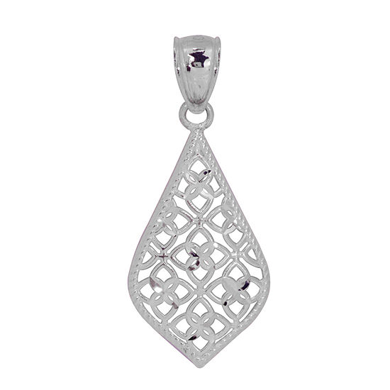 Womens 14K White Gold Pendant