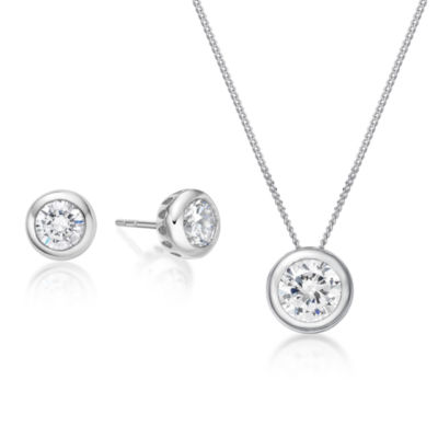 Diamonart 2 3/4 CT. T.W. White Cubic Zirconia 2-pc. Jewelry Set