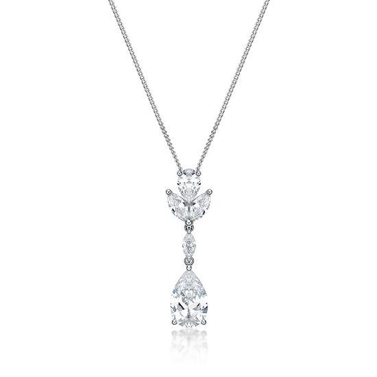 DiamonArt® Womens 4 1/2 CT. T.W. White Cubic Zirconia Sterling Silver Pendant Necklace